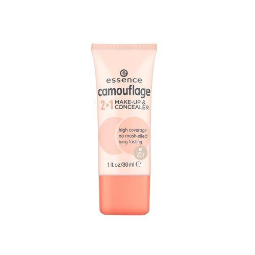essence camouflage 2in1 make-up & concealer 10